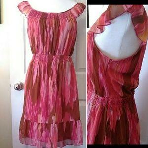 OLD NAVY boho dress with elastic waist Medium